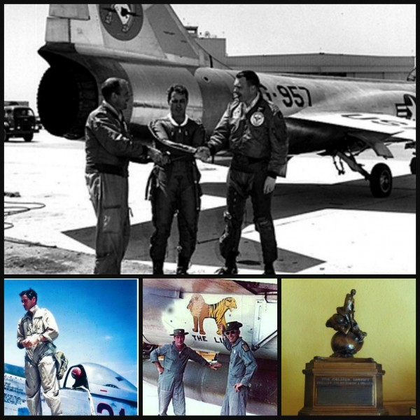 Scrappy after the world's altitude record, on his P-51 in Korea, by the THUD in Vietnam and the original copy of Collier trophy.