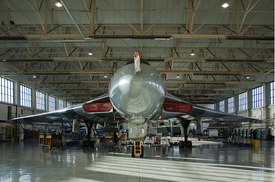 Right now, XH558 is back in her hangar with minor maintenance tasks being undertaken.