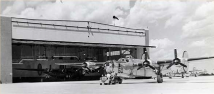 A brand new Consolidated B-24 right after the last stage of the assembly line.