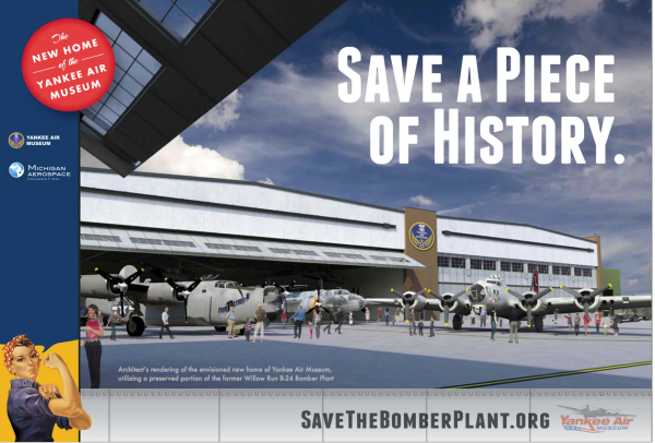 Save the Bomber Plant is getting a great response – 1,200+ contributors from across the US and Canada.  More than $4.9 million already mobilized leaving a little more than $3 million still to be raised.