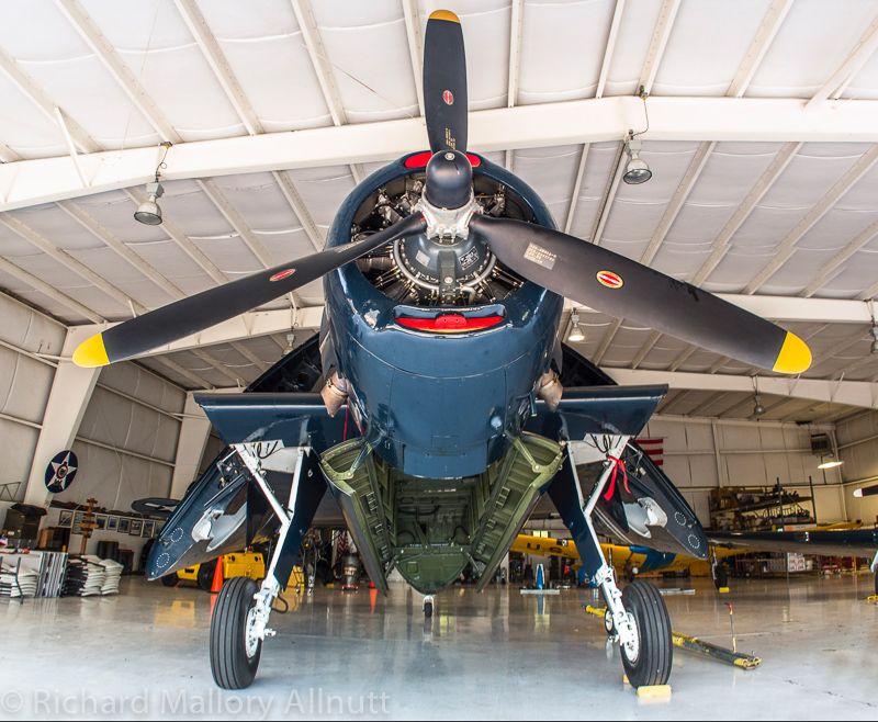 The CAF National Capital Squadron's TBM-3E in their hangar in Culpeper, Virginia. This aircraft once flew in the Royal Canadian Navy as a TBM-3S, and later as a bug sprayer in various locations around Canada until the late 1990s when the CAF acquired her. (photo by Richard Mallory Allnutt)