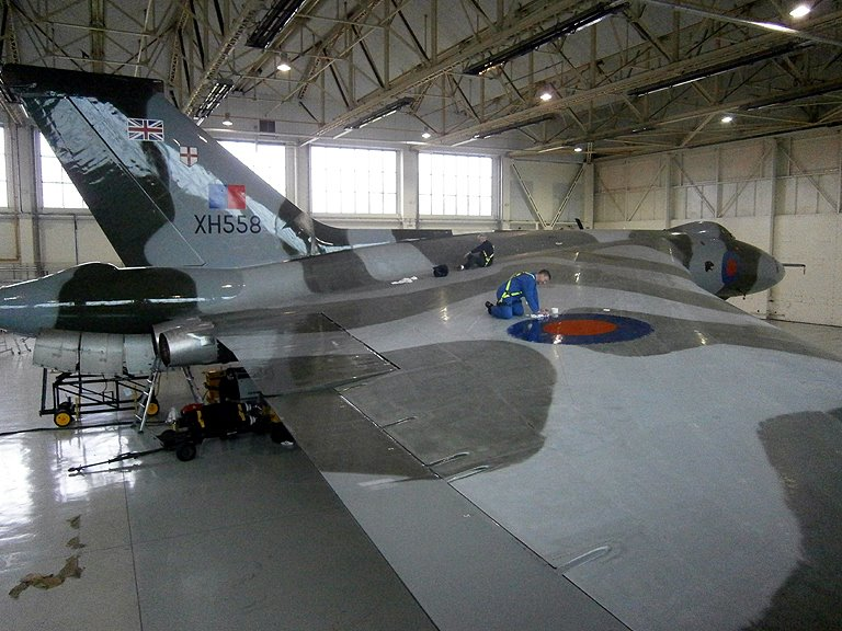 Vulcan to the Sky Trust spent seven years arranging funding and exploring the feasibility of restoring XH588 to airworthy condition and finally acquired the plane in 2005 to begin working on the plane. ( Image by Sean Bennett)