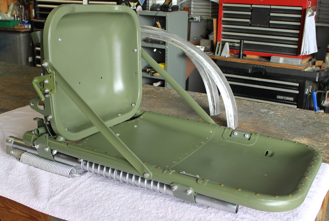 One of the fully assembled pilot's seats. (photo via Tom Reilly)