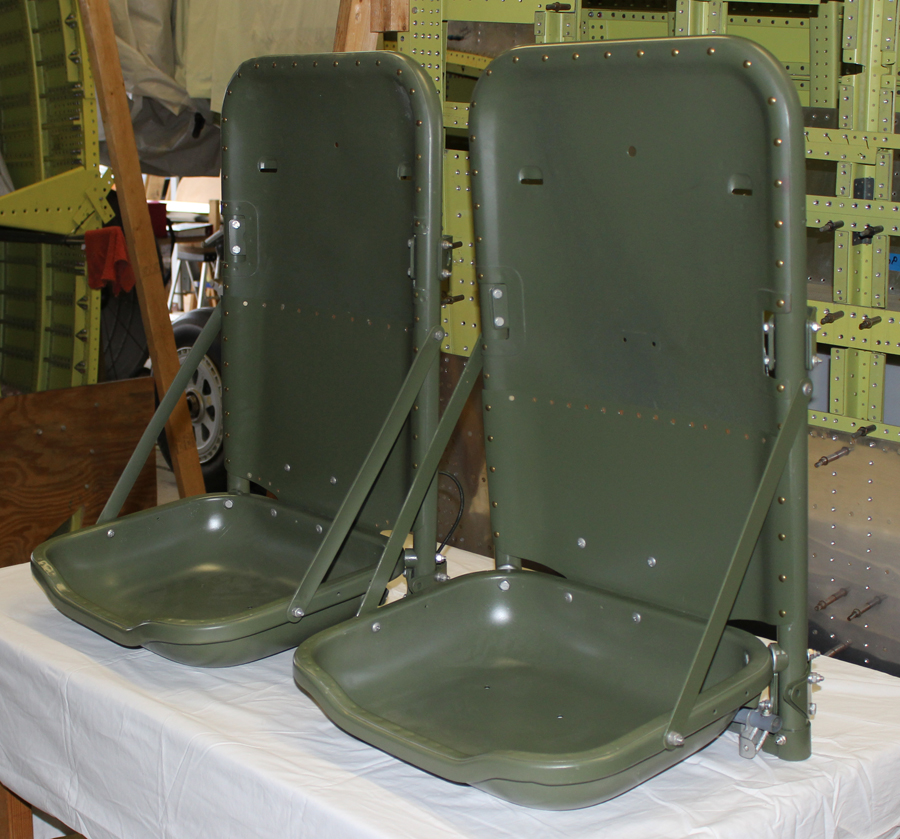 Seats for the XP-82 project. (photo via Tom Reilly)