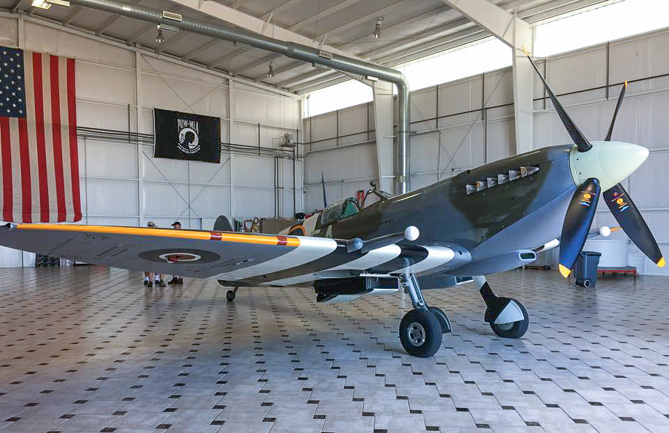 Spitfire MK959 at her new home with the Texas Flying Legends Museum. (photo by Moreno Aguiari)