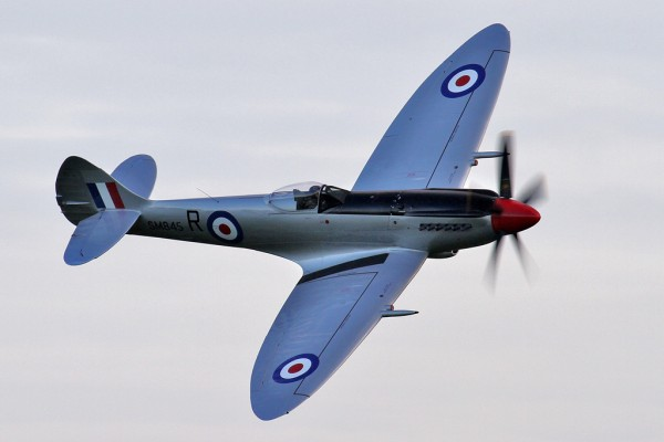 Piloting SM845 on her first flight was the Aircraft Restoration Company's Spitfire guru, John Romain, a man who has flown a plethora of vintage aircraft and warbirds. Image credit David Whitworth via Global Aviation Resource.)