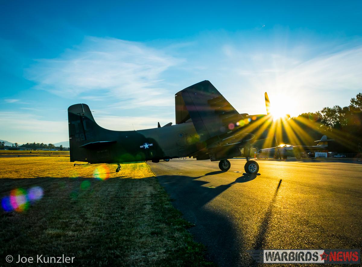 Sunrise over the Proud American. (photo by Joe Kunzler)