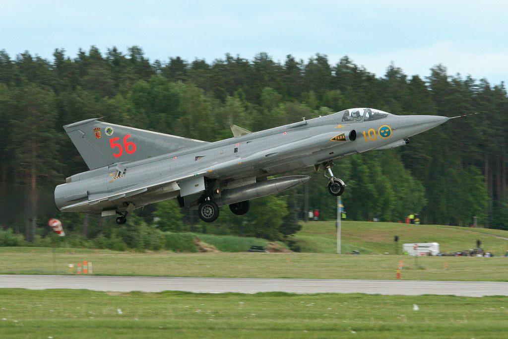 SwAFHF Saab 35 Draken (Image Credit: Alan Wilson CC 2.0)