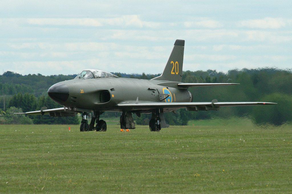 SwAFHF Saab J32E Lansen (Image Credit: Alan Wilson CC 2.0)