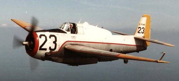 Tanker 23 in June 1982 near Sevogle. (The Sevogle Times- TBM Avengers $ Forest Protection Limited)