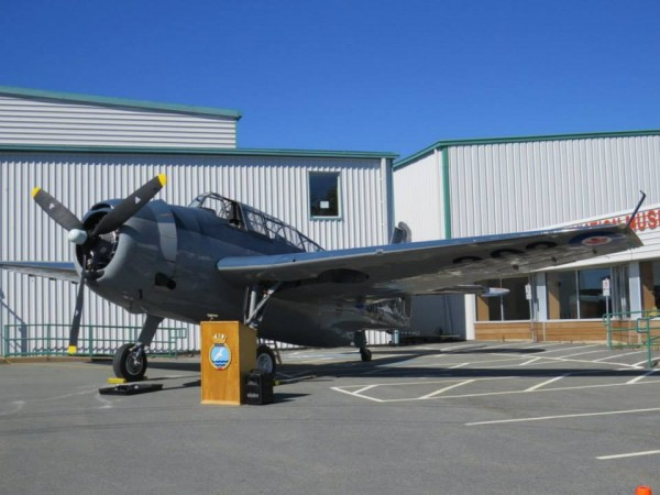 Tanker 23/NAVY 302  sitting proudly outside the museum. (Image credit Shearwater Aviation Museum )