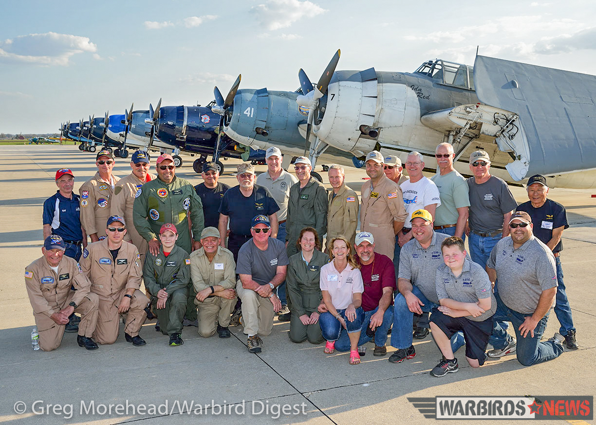 The team which made it happen. (photo by Greg Morehead, courtesy of Warbird Digest magazine)