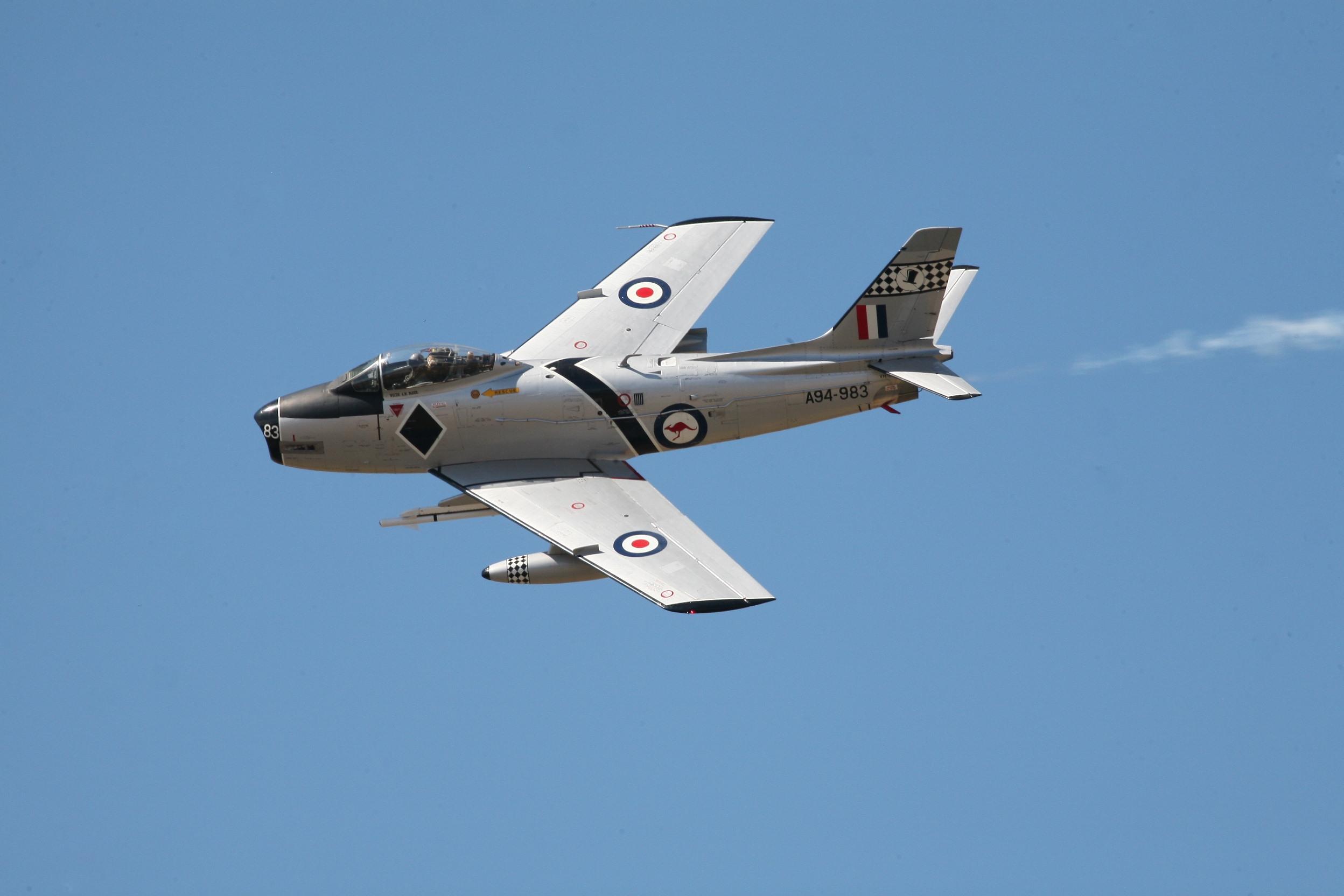 Temora Aviation Museum CAC-27 Sabre Mk. 32 jet 1960s markings