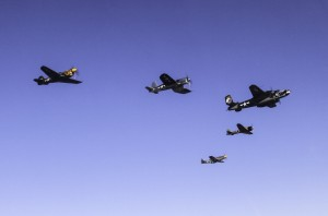 Texas Flying Legends in formation (Image Credit: Wings Over Houston Airshow)