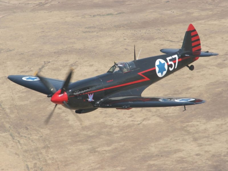 The Ezer Weitzman's Black Spitfire 57_Andreas Zeitler