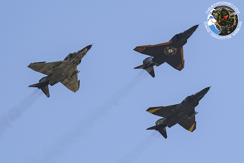 The final trio overflying Larissa in formation.