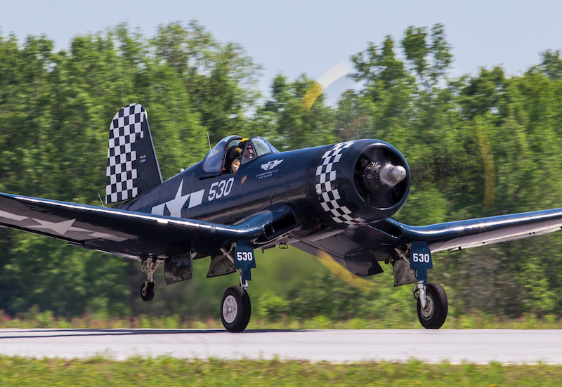 Thom Richard in the CAF Dixie Wing's FG-1D Corsair (Photo by Mike Killian)