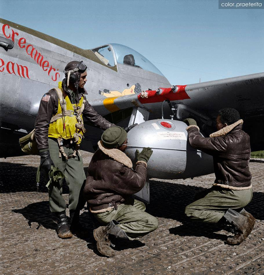 Tuskegee Airmen-In colors n