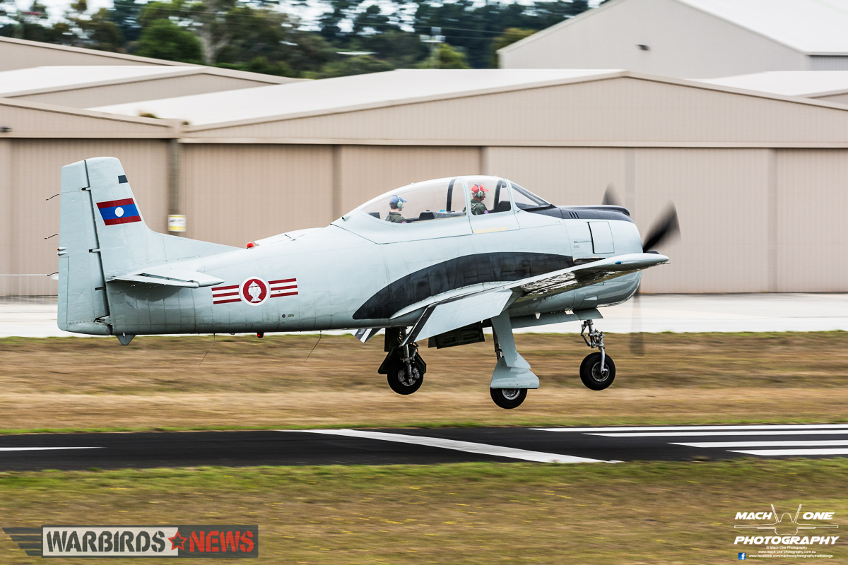 Michael Murphy's Ex-Laotian Air Force T-28D Trojan. (photo by Matt Savage)