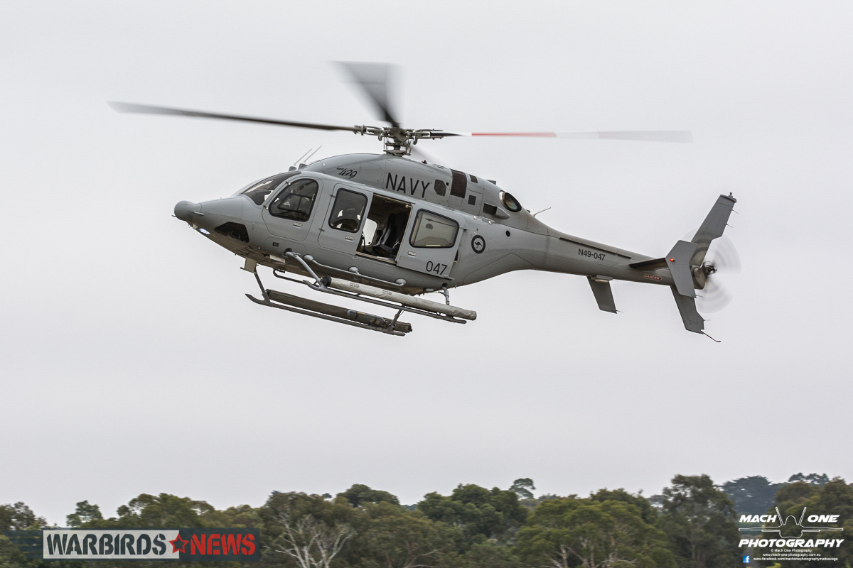 A Royal Australian Navy Bell 429 from 723 Squadron. (photo by Matt Savage)
