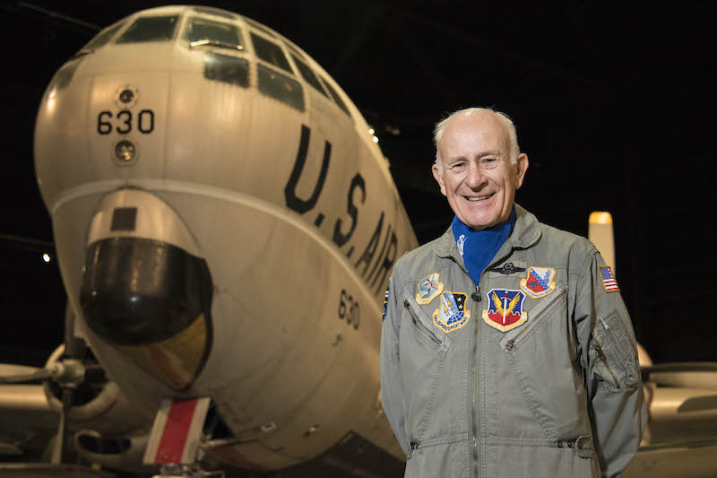 USAF Lt. Col. (Ret.) Kenneth Normand will speak with visitors about his experience as a pilot on the KC-97L. (U.S. Air Force photo by Ken LaRock)