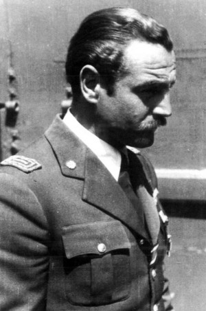 Visconti in one of the few pictures know wearing the ceremony uniform. ( Giorgio Apostolo Archive)