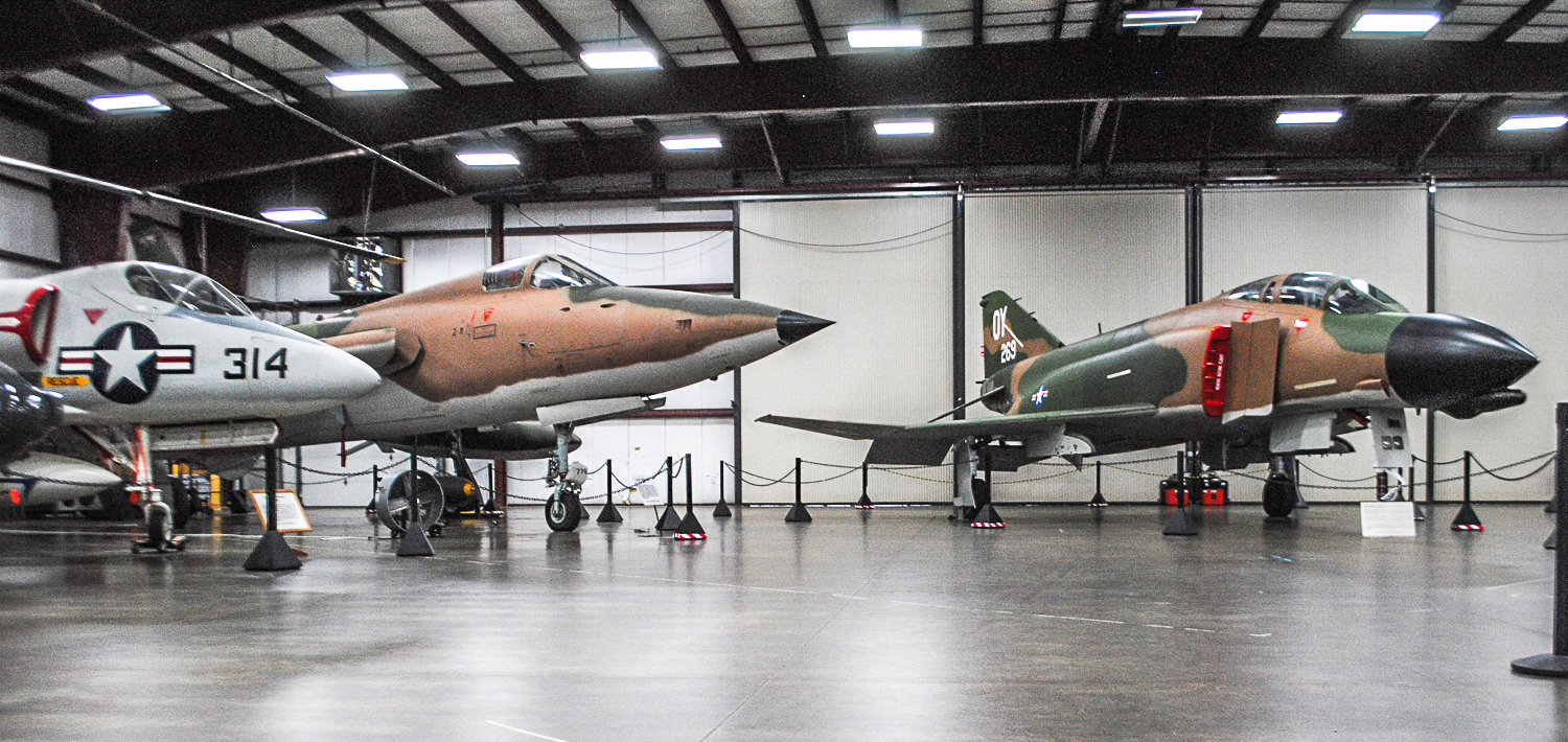 Some of the New England Air Museum's most important Viet Nam-era aircraft lined up as part of an exhibit dedicated to the Viet Nam War. Located in two of the museum's hangars, as well as outside, 18 aircraft will give visitors an idea of what US crews had to fly and fight with over Viet Nam. (photo via NEAM)