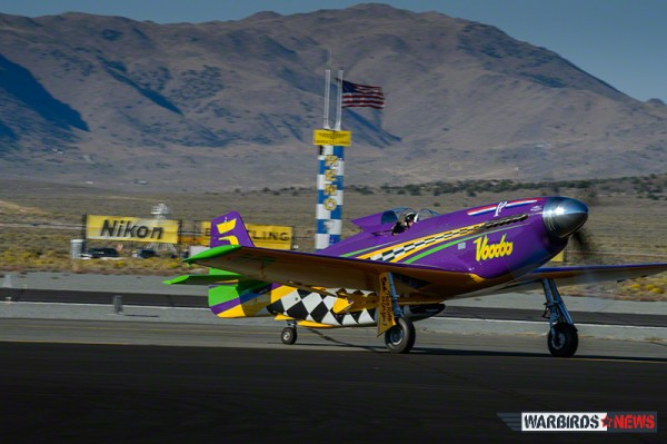 Winner of the 2013 Gold Unlimited, Steve Hinton and P-51D Mustang, Voodoo. (Image Credit: Moose Peterson)