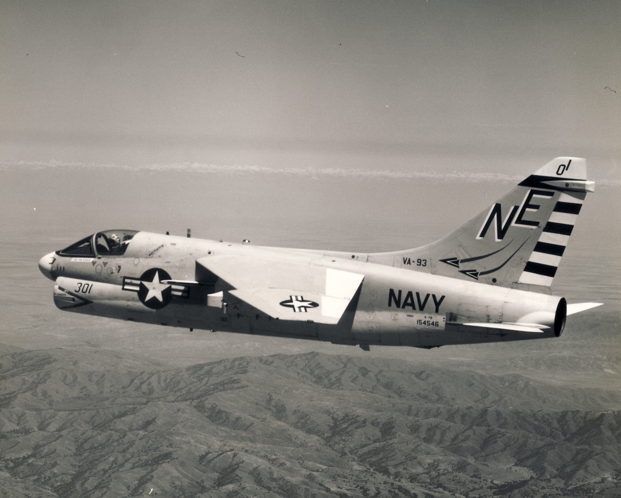 Vought A-7B of the VA-93 - May 15, 1969. Stephen Chapis Collection
