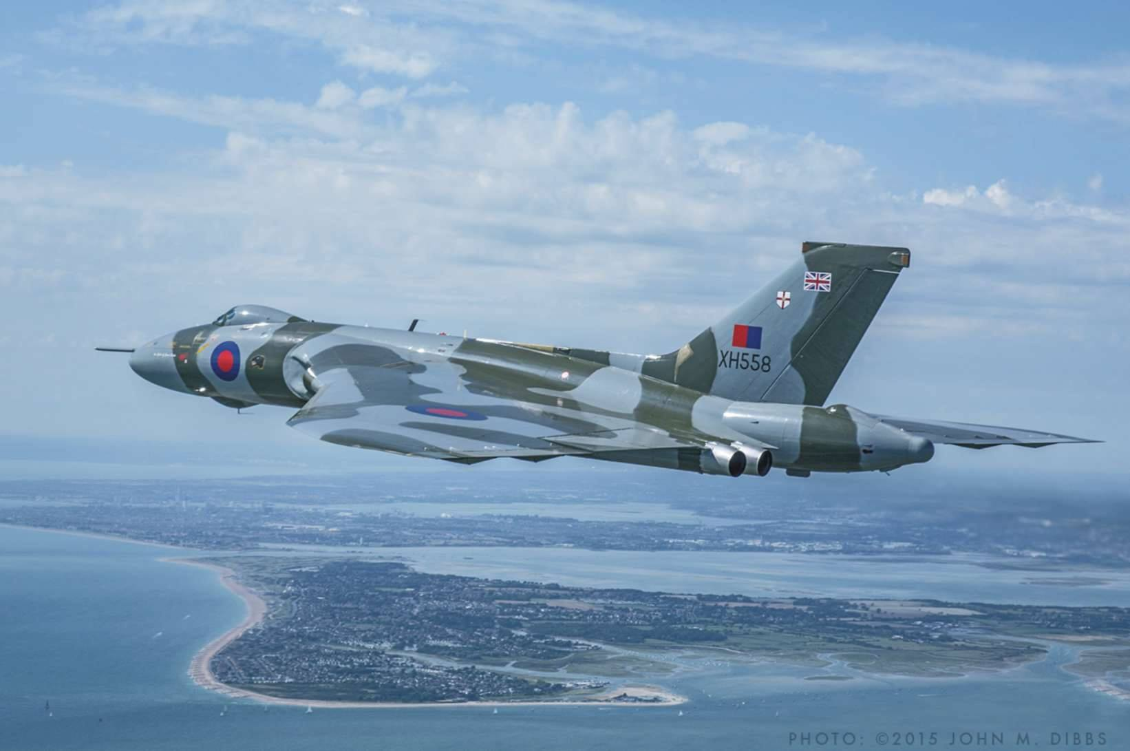 John Dibbs captured Vulcan XH558 over the Solent back in August during a photo mission for an upcoming book.