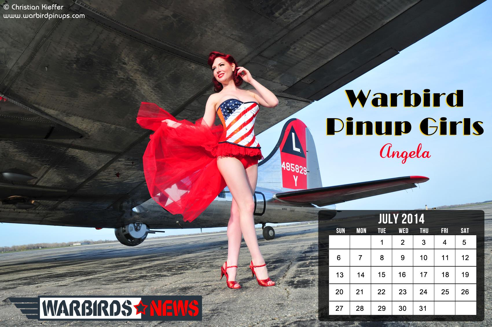 Warbird Pinups and Warbirds News July calendar 1700x1129