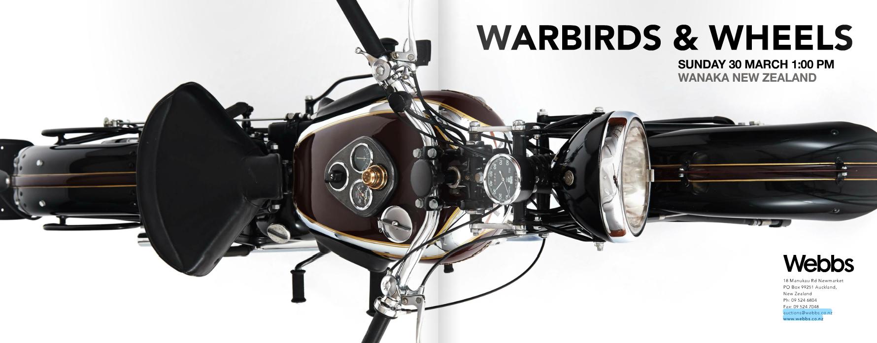 Warbirds & Wheels Webb's Auction in New Zealand