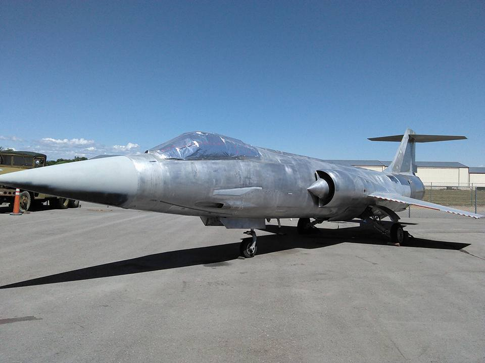The F-104 stripped of its paint, ready to wear its 1958 USAF markings again.(Photo by Michael Halbrook)