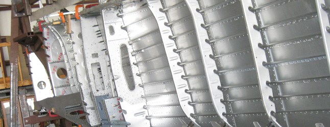 Inside the fuselage of the Fw-190 known as White 1. (photo via WarbirdRadio.com)