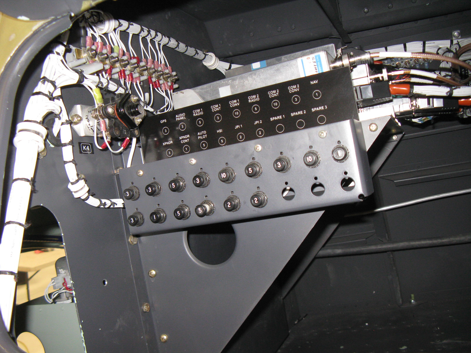 Wiring by Custom Connections installed in the GossHawk Unlimited manufactured control consoles. (photo via GossHawk Unlimited)