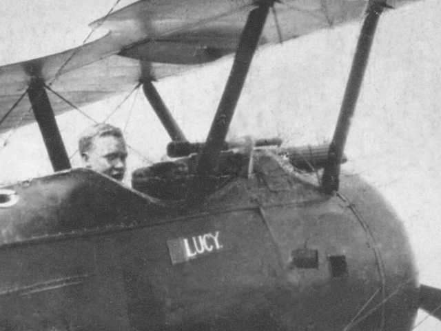Woo May in the cockpit of his Sopwith Camel. (via Warbird Radio)