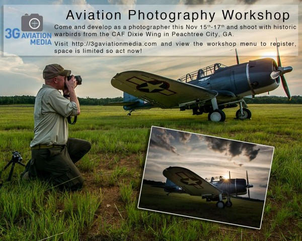 Aviation Photographer Tony Granata shooting the CAF Dixie Wing SBD-5 Dauntless.