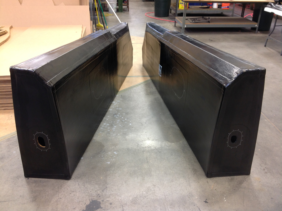 A pair of the newly-manufactured fuel tanks. (photo via Tom Reilly)