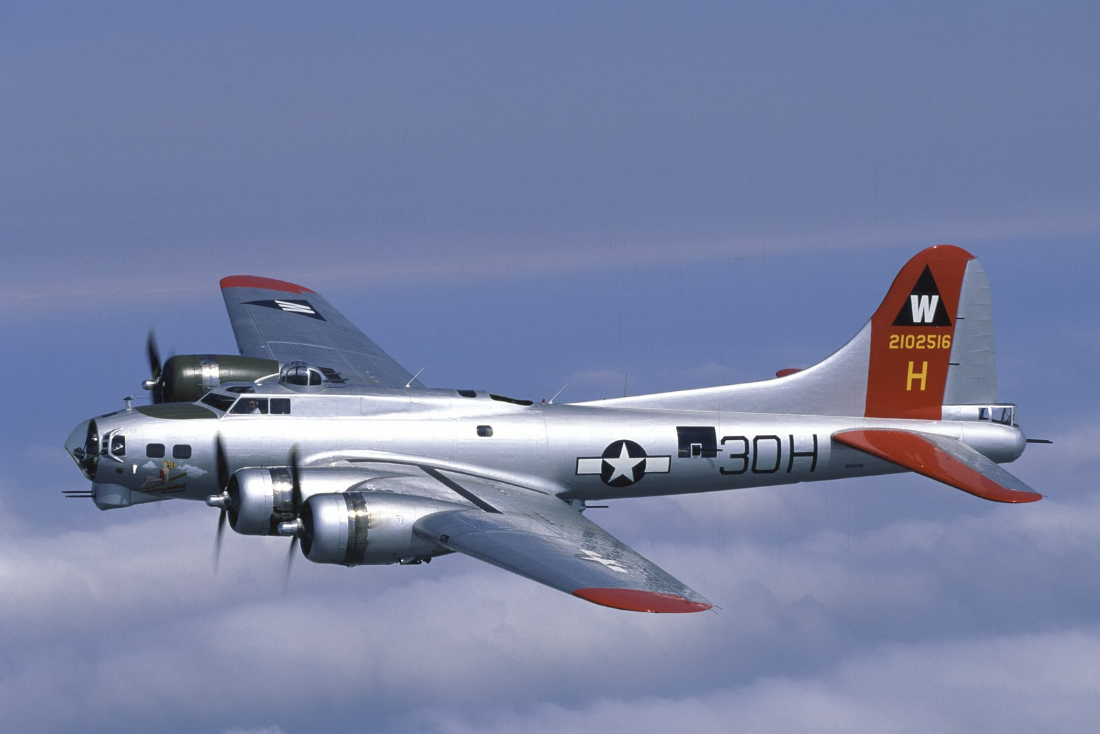 EAA's B-17G-VE, serial number 44-85740 - nicknamed Aluminum Overcast – was delivered to the U.S. Army Air Corps on May 18, 1945.