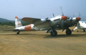 Mosquito CF-HMS wearing its Spartan Air Services Livery in the '50s (Image Credit: Calgary Mosquito Society)
