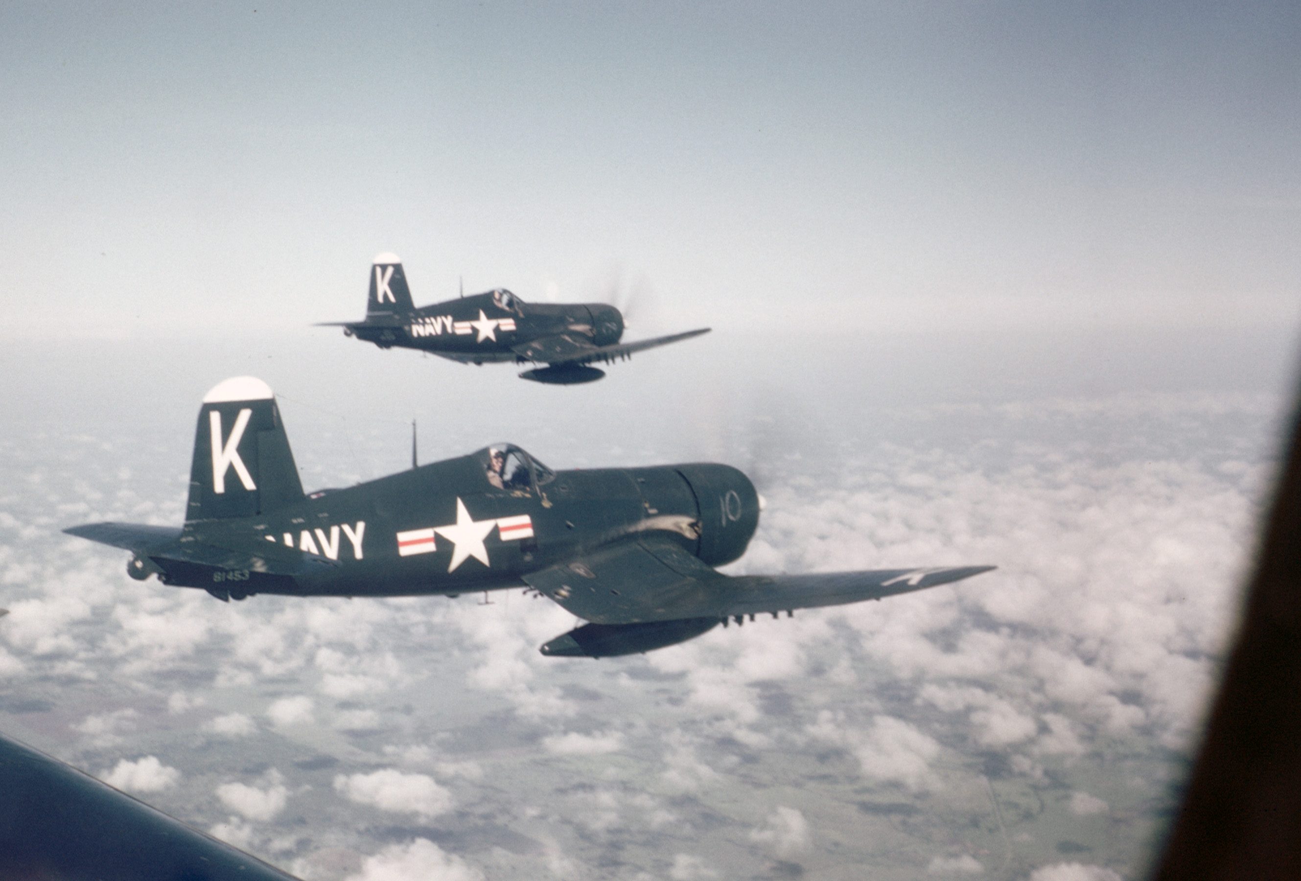 F4U-4 Corsairs similar to those flown by Brown and Hudner on that fateful day in December, 1950. (photo via Bryan Makos)