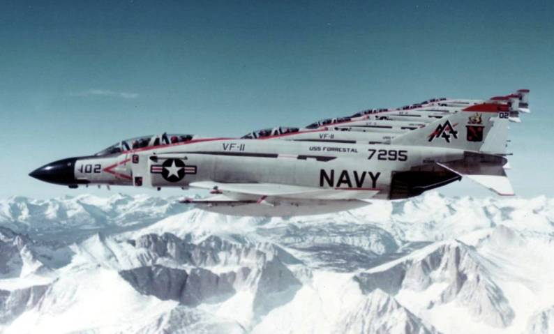 """F-4J Phantom of the VF-11 """"Red Rippers"""" Fighter Squadron"""