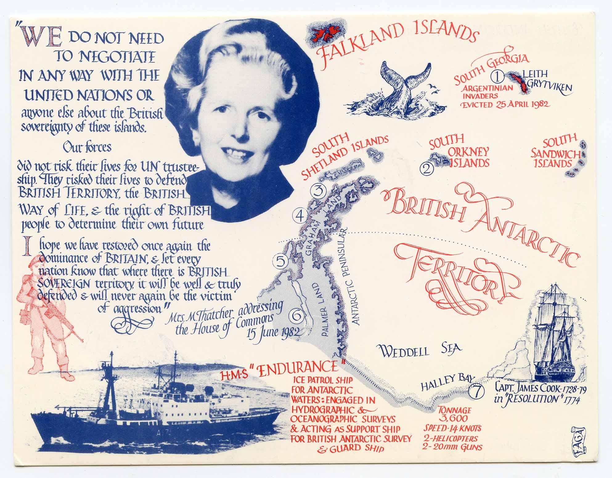 Galklands postcard