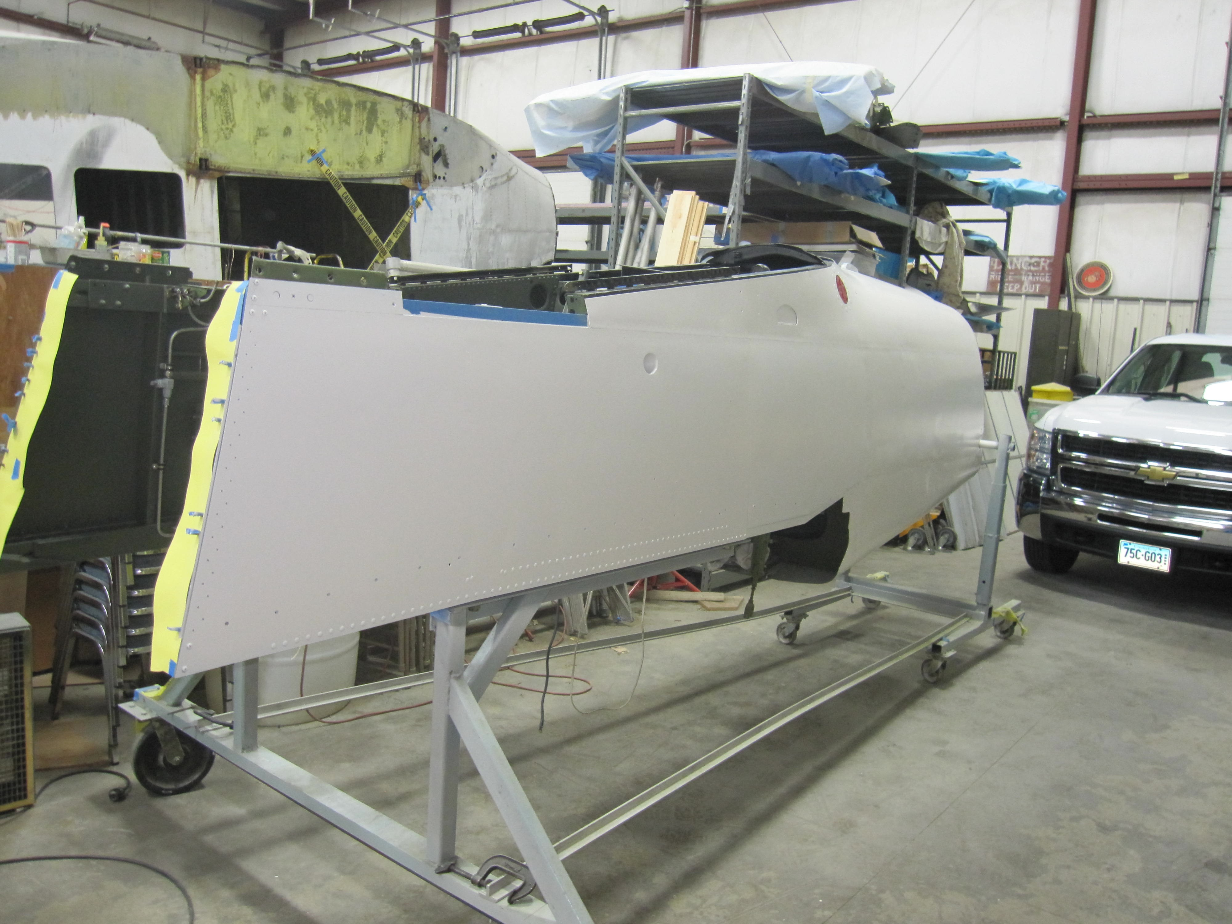 fuselage right side primed