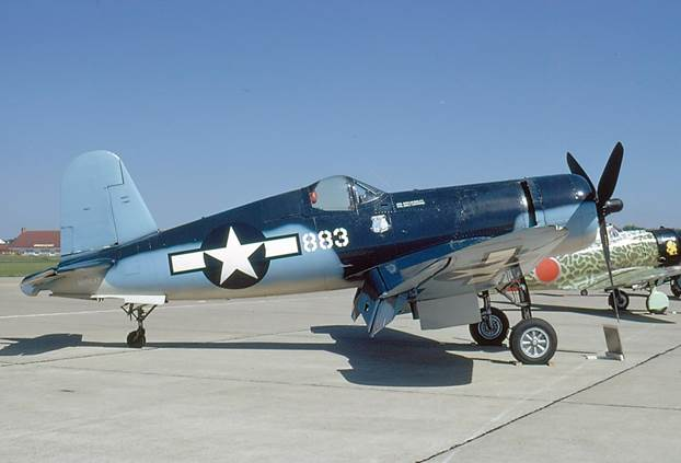 The CAF's Corsair when painted as '883', one of Pappy Boyington's steeds. (CAF photo)