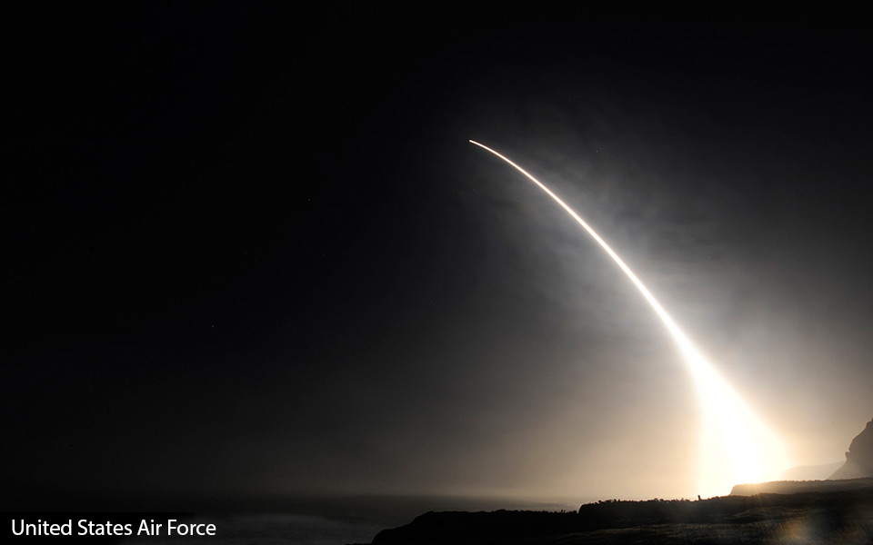 The LGM-30 Minuteman is a U.S. land-based intercontinental ballistic missile (ICBM), in service with the Air Force Global Strike Command. As of 2016, the LGM-30G Minuteman III version is the only land-based ICBM in service in the United States. ( Image via United States Air Force)