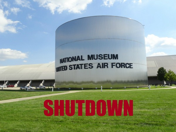 museum of the us air force exterior shutdown