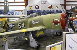 The museum's P-47 is painted in the colors of the 65th Fighter Squadron, 57th Fighter Group, a Bradley Field unit which went to combat in North Africa, Italy and Germany.Photo courtesy William Maloney