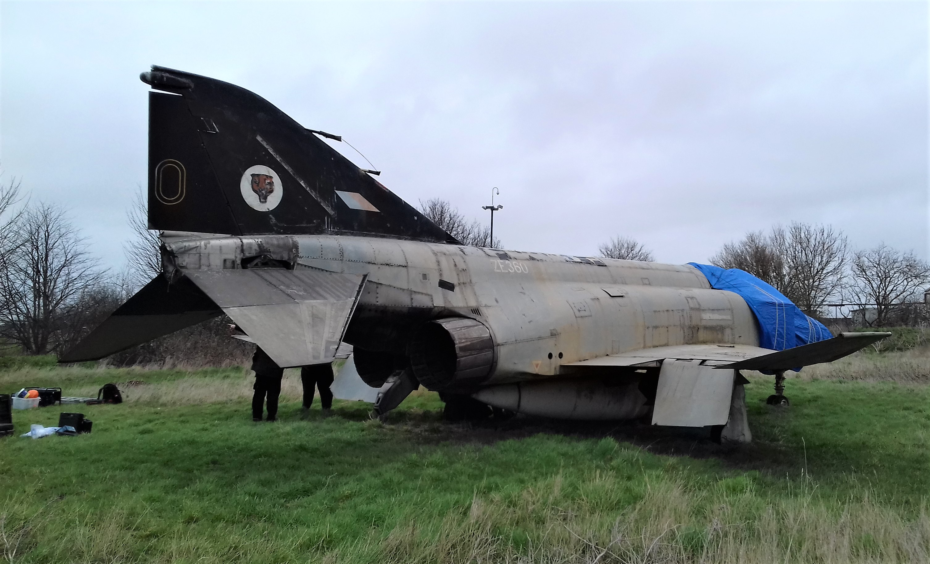 Greenwood Military Aviation Museum's Lancaster with her freshly restored nose about to rejoin the fuselage in Greenwood, Nova Scotia. (photo via GMAM)