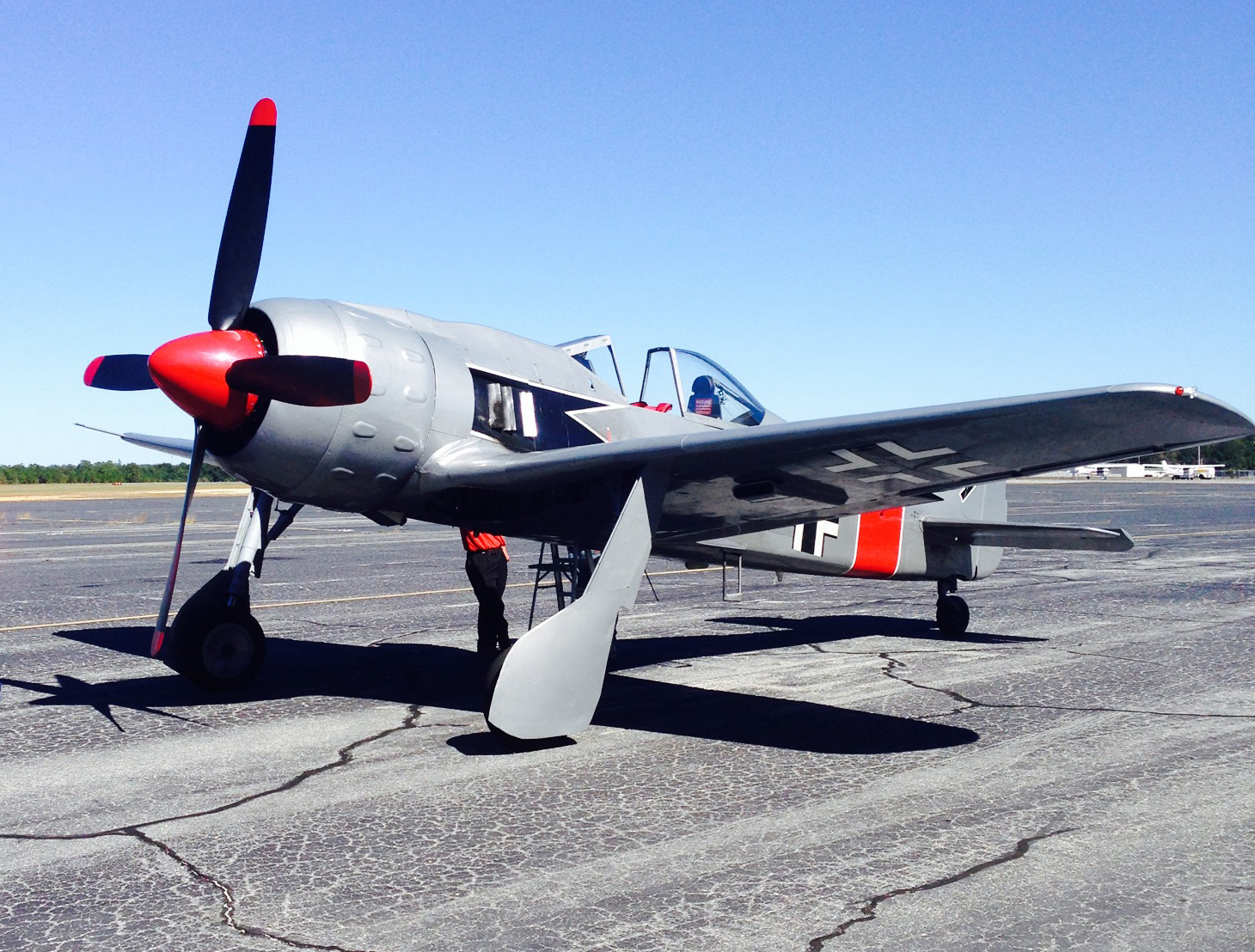 The Military Aviation Museum's latest acquisition, a Flugwerk FW-190A8/N. (photo via Mike Spalding)
